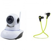 Zemini Wifi CCTV Camera and Jogger Bluetooth Headset for LG OPTIMUS L5 DUAL(Wifi CCTV Camera with night vision |Jogger Bluetooth Headset With Mic )