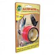 Ala Stop Nastro Miny Червена лента прогонваща птици (Гълъби, Врабчета, Скорци, Косове, Врани, Пчелояди, Свраки, Кълвачи и др.), 15 м дължина
