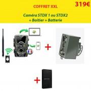 NATURACAM® COFFRET XXL Caméra STD X1 ou X2 + boîtier de sécurité + batterie suppl.