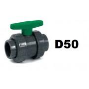 Golyóscsap D50 HDPE, EPDM tömítéssel CCG-50H