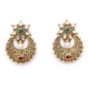 Indian Style Beaded Dangle Drop Fashionable Earrings Traditional Jhumka Jhumki Earrings for Women 18 RED GREEN