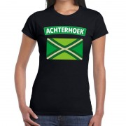 Bellatio Decorations Achterhoek en vlag festival t-shirt zwart dames