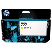HP 727 Yellow Designjet Ink Cartridge, 130-ml (B3P21A)