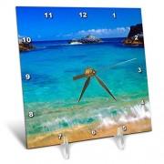 3dRose USA, Hawaii, Kauai. Una Ola rompe en la Playa.Reloj de computadora, 6por 6-Inch (DC 209345_ 1)