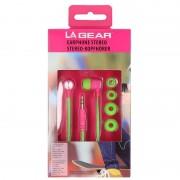 Merkloos Oordopjes/oortelefoon voor muziek neon groen/roze