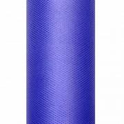 Geen Decoratiestof tule blauw 50 cm breed