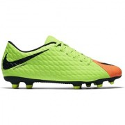 Nike Men'S Hypervenom Phade III FG Green And Orange Football Shoes