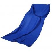 Patura cu maneci Snuggie, polyester, marime universala, albastru