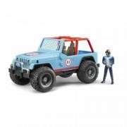 Bruder 02541 jeep cross country racer blue con personaggio - scala 1:16