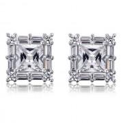 Cercei Borealy Argint 925 Diamonds Square Princess
