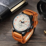 Ceas barbatesc Curren Aviator Large, Orange Line