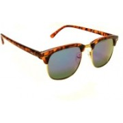 Mangal Brothers Retro Square Sunglasses(Blue)