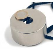 Magnet neodim inel, diametru 60/06 mm, putere 120 kg