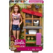 Mattel Barbie Carriere Fattoria dei Polli. Playset con Bambola. Galline....