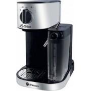 Espressor Rohnson R975 1470W 1.2l 15 Bar Sistem de spumare a laptelui Argintiu-Negru