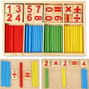 Wooden computing toys Numbers stick count toys math bars counting rods maths puzzles intellectual training wisdom students pre-educational toys infants childrens elementary school birthday gifts birthday gifts gifts (1)