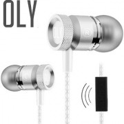 Oly Audio X15 In Ear Headphones with Mic - Silver - Premium Sweatproof Metal Sport Earphones with Carry Case - HD Sound Bass and Voice For Handsfree Operation - Works with Android iPhone Windows Phones Tablets and Laptops
