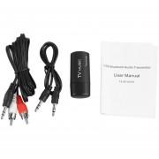 ER Transmisor De Audio Bluetooth USB Wireless Music Box Dongle Adaptador Estéreo -Negro