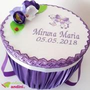 Cutie Trusou Botez Purple Butterfly