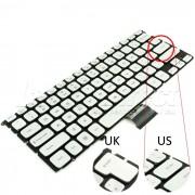 Tastatura Laptop Dell 0WXYWV argintie iluminata + CADOU