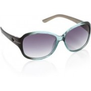 Opium Over-sized Sunglasses(Violet)