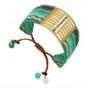 Mishky Bracelet manchette perles et plaque dorée, Gate LadyNight Mishky Mishky