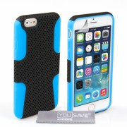 YouSave Accessories iPhone 6/6s Mesh Combo Case - Blue/Black