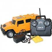 Rechargeable Remote Control Hummer Toy Car-Yellow