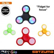 "Jucarie anti-stres ""Flix Glow Fidget Spinner"", negru/galben/rosu/verde"