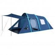 vidaXL Палатка за къмпинг с надуваеми греди, 500x220x180 см, синя