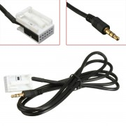 3.5mm Aux In Input Audio Cable Lead Adaptor For Citroen Peugeot MP3 iPod iPhone