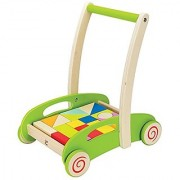 Hape - Block and Roll Cart Wooden Push and Pull Toy