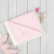 Paturica reversibila din tricotfleece 90x70 cm Comfi Love Pink 844517
