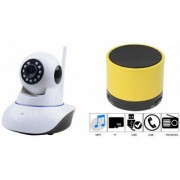 Zemini Wifi CCTV Camera and S10 Bluetooth Speaker for LENOVO vibe p1m(Wifi CCTV Camera with night vision |S10 Bluetooth Speaker)