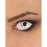 Vegaoo Kontaktlinsen Phantasie Auge bloodied 1 Jahr Erwachsene Halloween