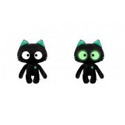 JWTX Stuffed Animals Toys Originals Glowing Cat Plush Glow Cat Pillow 22 inches (Black-Eye)