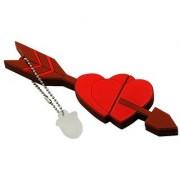 Pankreeti PKT321 Red Heart 32 GB Pen Drive (Red)
