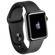 Apple Watch (1. Gen) 42 mm Acero inoxidable Negro Correa Deportiva Negra