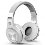 White BLUEDIO H+ Turbine Bluetooth Over-ear Headphone with Mic, Support Micro-SD / FM Radio