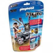 Комплект Плеймобил 6165 - Разбойник с черно оръдие, Playmobil, 291264