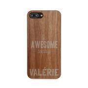 YourSurprise Coque en bois iPhone 8 plus - Gravée