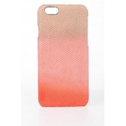 Rick Owens Cover per iPhone 6 Plus in Pelle DEGRADE CORAL taglia Unica