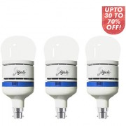 Ujala led 35W Rocket Bulb-120 Lumen/Watt B22 Base (Aluminium) PC Diffuser 2Year Warranty (pack of 3)