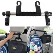 Suport reglabil cu carlige pentru scaunul auto pe tetiera masinii
