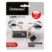 PENDRIVE 64GB USB3.0 INTENSO IMOBILE LINE NEGRO