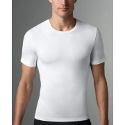 SPANX For Men Cotton Compression Crew Neck Short Sleeved T Shirt White 607