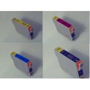 10 Tintenpatronen kompatibel T061140 T061240 T061340 T061440 f. Epson Stylus D68 D88 DX3800 DX3850 DX4200 DX4250 DX4800 DX4850 D-68 D-88 DX-4200