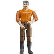 Bruder Man with Light Skin/Brown Jeans Toy Figure