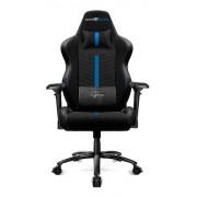 Silla gamer Game Factor CGC601-BL XL, azul/negro, tela automotriz, reclinable, descansabrazos ajustable 4D, cojín, hasta 150KG