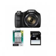 Aparat foto Sony Cyber-shot DSC-H300 20.1 Mpx zoom optic 35x Negru cu incarcator si card SD 8GB